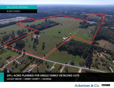 SOLD – 291-Acre Single-Family Detached Lots at Bunn Farms
